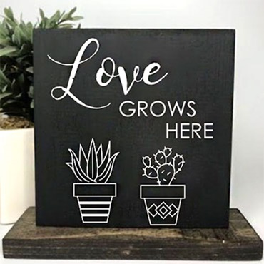 Table Top Wood Sign