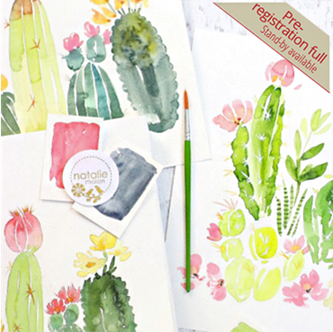 Intermediate Watercolor Cacti & Florals