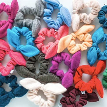 Scrunchies from Cashmere Sweaters