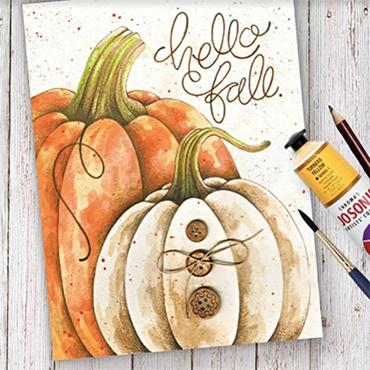 Paint & Pencil Hello Fall
