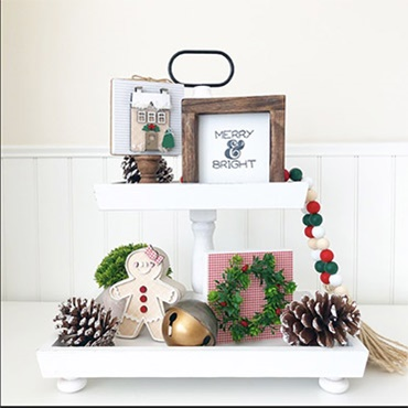 Tiered Tray Holiday Decor Set (tray not included)
