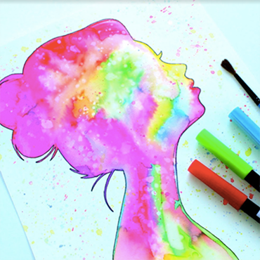 Watercolor Technique with Markers