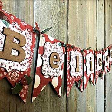 Believe Wood Banner