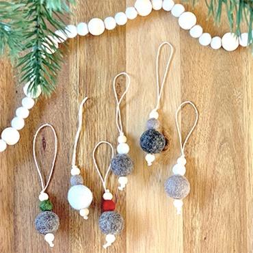 Felt Ball Garland and Ornaments