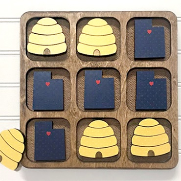 Personalized Wooden Tic-Tac-Toe Set