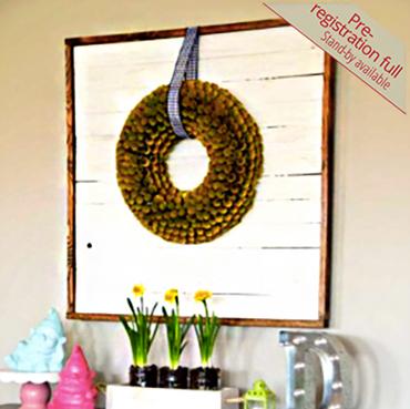 Build a Shiplap Wreath Display Board