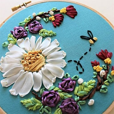 Floral Ribbon Embroidery