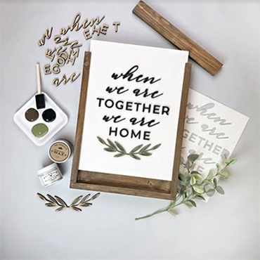 """We Are Home"" 3D Interchangeable Sign"