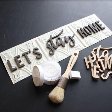 Tin Tile 3D Sign