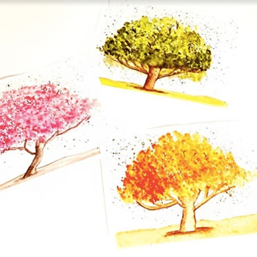 Watercolor Trees for Beginners