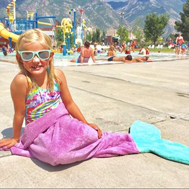 Mermaid Tail Towel Robes