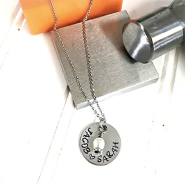 Personalized Hand-Stamped Necklace