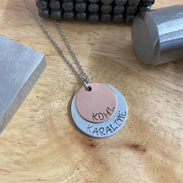 Stacked Mixed Metal Necklace