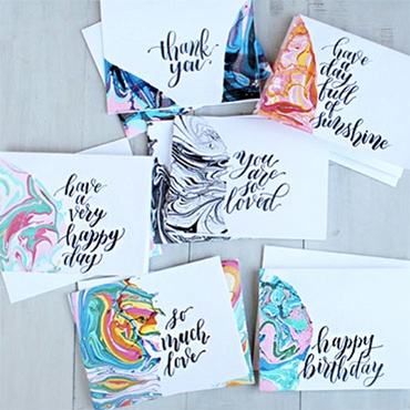 Marbling Stationery for Beginners