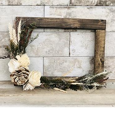 Rustic Floral Frame