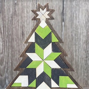 Wood Quilt Christmas Tree