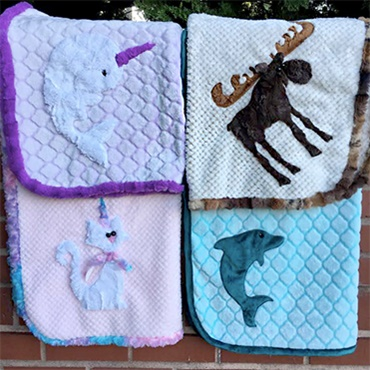 Cuddle Blanket with Applique
