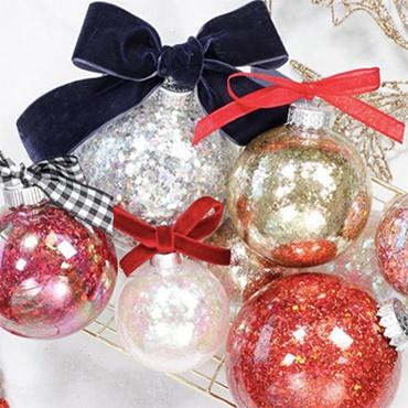 DIY Glittered Ornaments with JOANN