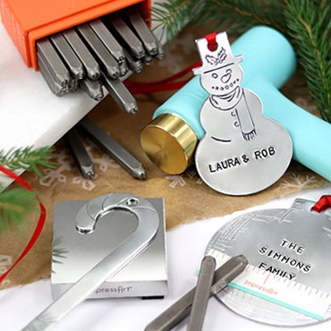 Hand Stamped Holiday Ornaments